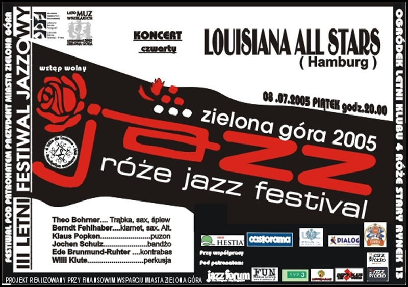 2005_07_08_Róże_Jazz_Festiwal_Plakat_Louisiana _All_Stars
