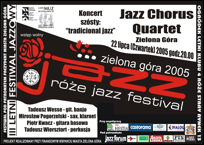 2005_07_22_Róże_Jazz_Festiwal_Plakat_Jazz_Chorus_Quartet