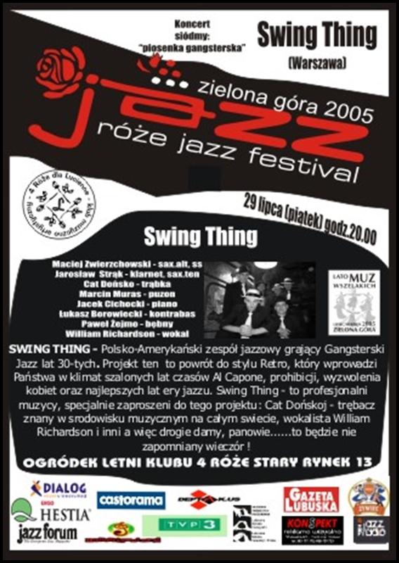 2005_07_29_Róże_Jazz_Festiwal_Plakat_Swing_Thing