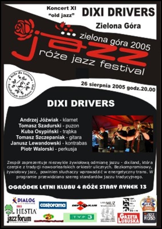 2005_08_26_Róże_Jazz_Festiwal_Plakat_Dixie_Drivers