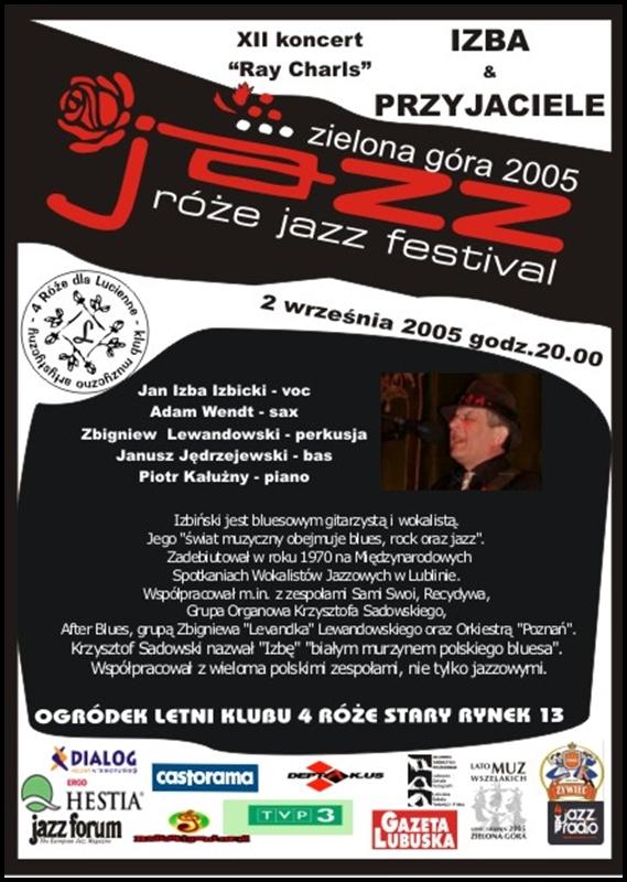 2005_09_2_Róże_Jazz_Festiwal_Plakat_Izba_&_Przyjaciele