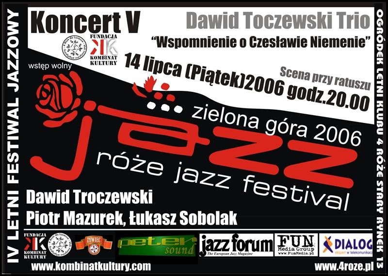 2006_Róże_Jazz_Plakat_Festiwal_Dawid_Toczewski_Trio_ 14_07