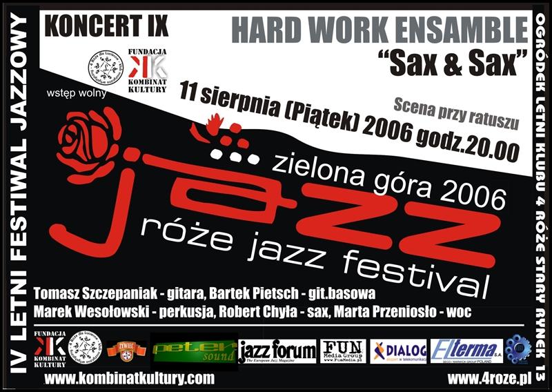2006_Róże_Jazz_Plakat_Festiwal_Hard_Work_Ensamble_ 11_08