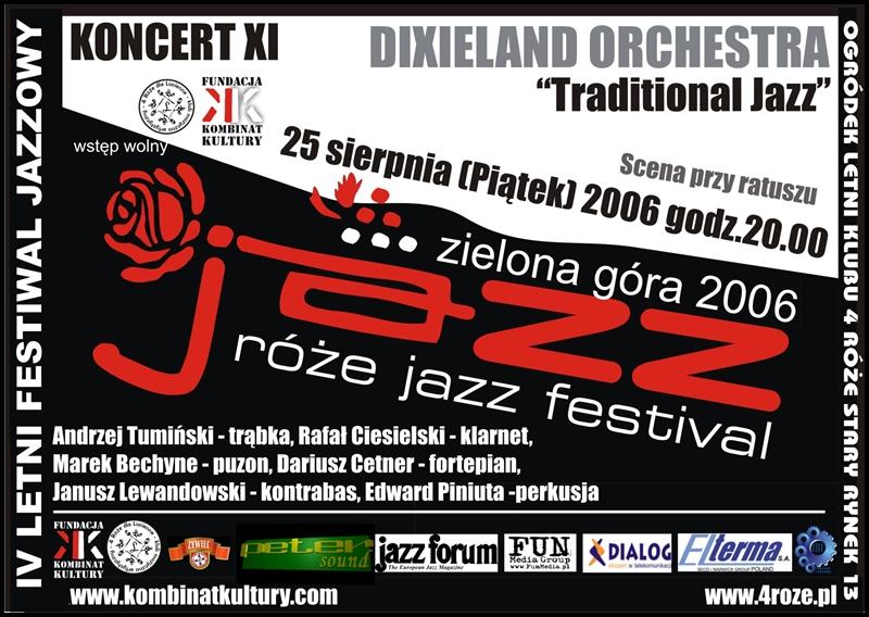 2006_Róże_Jazz_Plakat_Festiwal_Dixieland_Orchestra_ 25_08