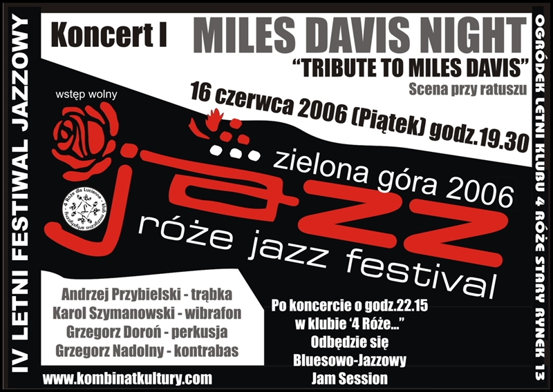 2006_Róże_Jazz_Plakat_Festiwal_Miles_Davis_Night_ 16_06