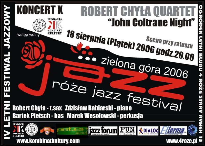 2006_Róże_Jazz_Plakat_Festiwal_Robert_Chyła_Quartet_ 18_08