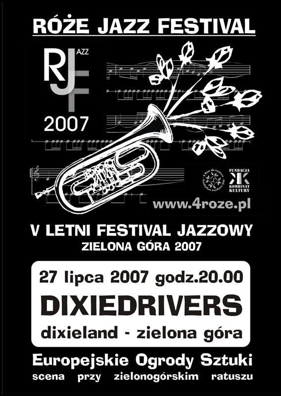 2007_Róże_Jazz_Festiwal_Plakat_Dixiedrivers_ 27_07