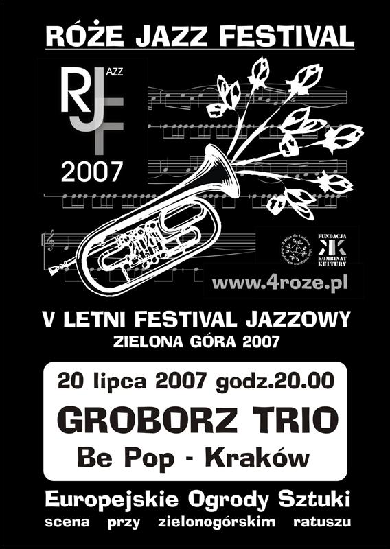 2007_Róże_Jazz_Festiwal_Plakat_Groboż_Trio_ 20_07