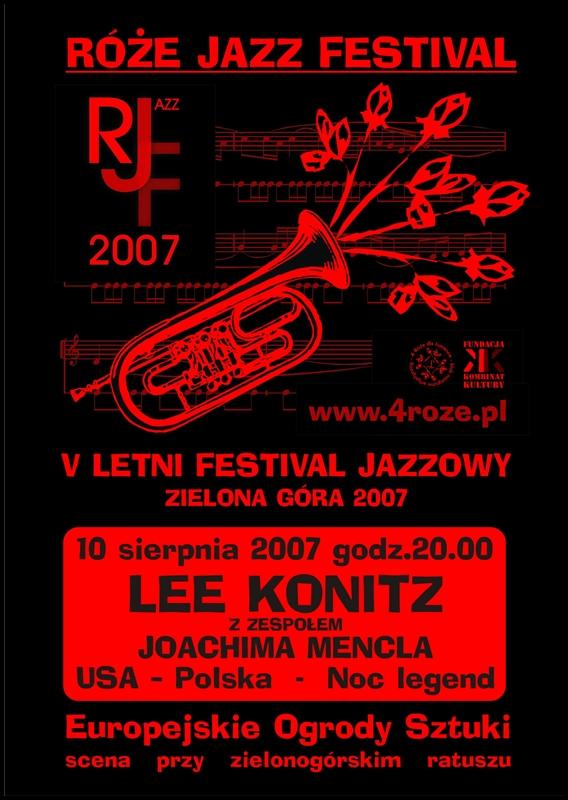 2007_Róże_Jazz_Festiwal_Plakat_Lee_Konitz_Joachim_Mencel_ 10_08