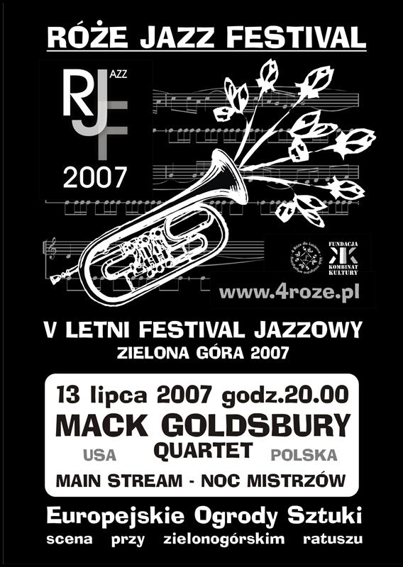 2007_Róże_Jazz_Festiwal_Plakat_MC_Goldsbury_Quartet_ 13_07