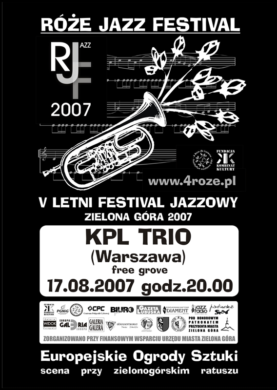 2007_Róże_Jazz_Festiwal_Plakat_KPL_Trio_ 17_08