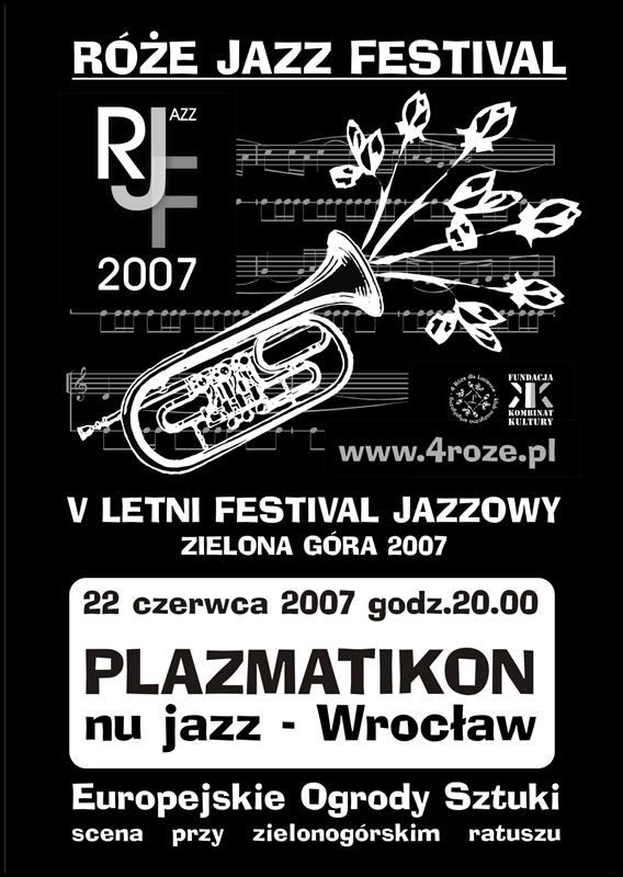 2007_Róże_Jazz_Festiwal_Plakat_Plazmatikon_ 22_06