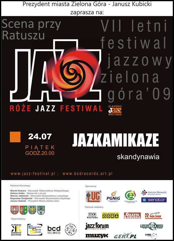 2009_07_24_Róże_Jazz_Festiwal_Plakat_Jazkamikaze
