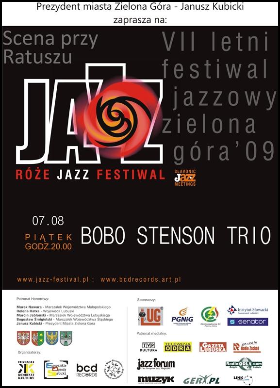 2009_08_07_Róże_Jazz_Festiwal_Plakat_Bobo_Stenson_Trio