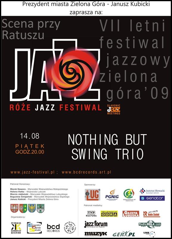 2009_08_14_Róże_Jazz_Festiwal_Plakat_NOTHING BUT_Swing_Trio_