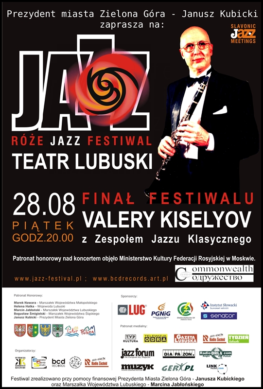 2009_08_28Róże_Jazz_Festiwal_Plakat_Valery_Kiselyov_Trio_ 28_08