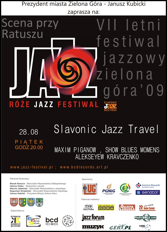 2009_08_28_Róże_Jazz_Festiwal_Plakat_sLAVONIC_jAZZ_tRAVEL_28_08