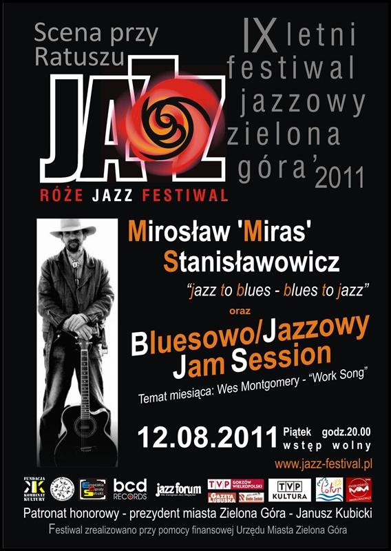 2011 _Róże_Jazz_Festiwal_plakat_Bluesowy_Jamm_Session_Mirosław_Stanisławowicz