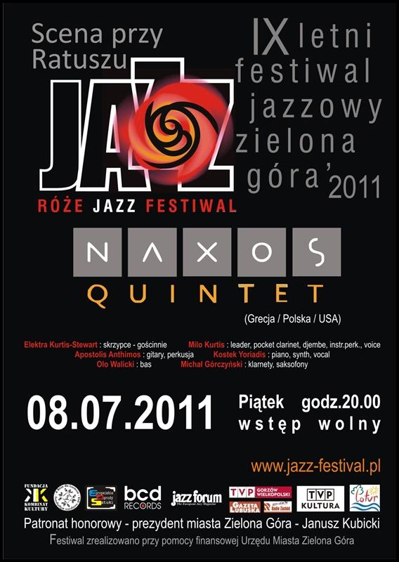 2011 _Róże_Jazz_Festiwal_plakat_Naxos_Quintet