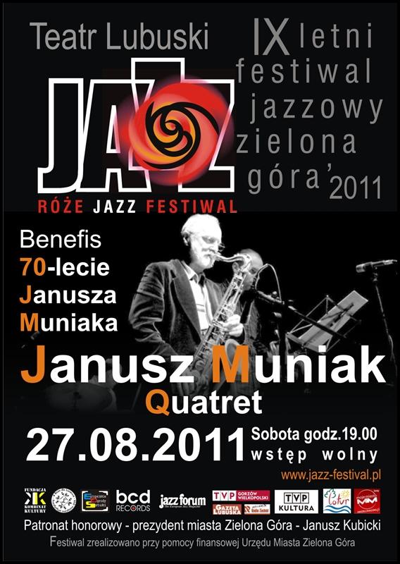 2011 _Róże_Jazz_Festiwal_plakat_Janusz_Muniak_Quartet