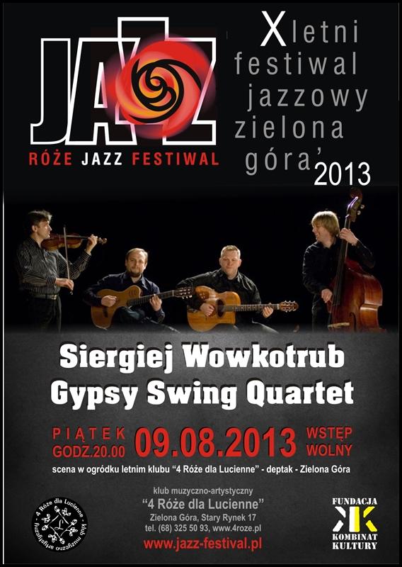 2013_08_09_Róże_Jazz_Festiwal_Plakat_Siergiej_Wowkotrub_ Gypsy_Swing_Quartet