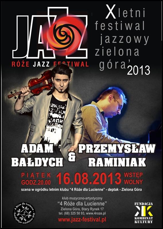 2013_08_16_Róże_Jazz_Festiwal_Plakat_Adam_Bałdych_Przemysław_Raminiak