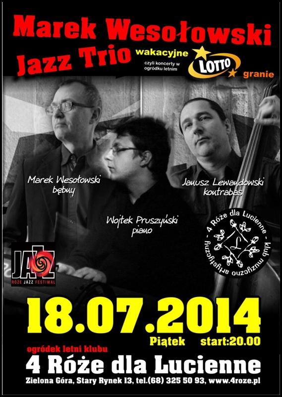 2014_07_18_Roze_Jazz_Festiwal_ Marek_Wesołowski_Jazz_Trio_plakat