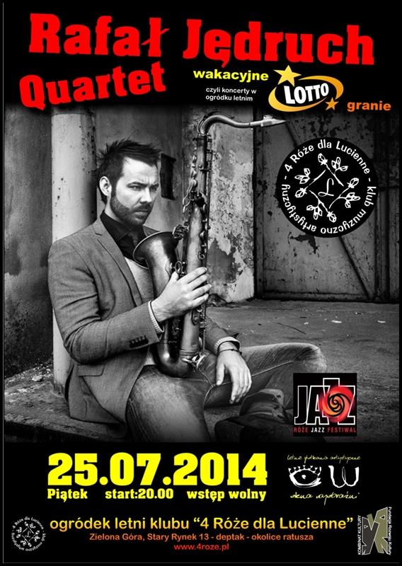2014_07_25_Roze_Jazz_Festiwal_ Rafal_Jedruch_Quartet_plakat
