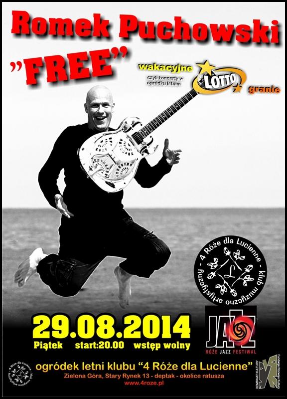 2014_08_29_Roze_Jazz_Festiwal_ Romek_Puchowski_FREE_Trio_plakat