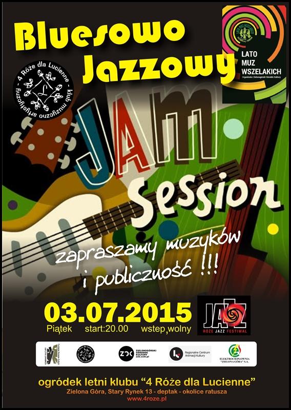 2015_07_03_Roze_Jazz_Festiwal_ Bluesowo _Jazzowy_Jam_Session_Trio_plakat