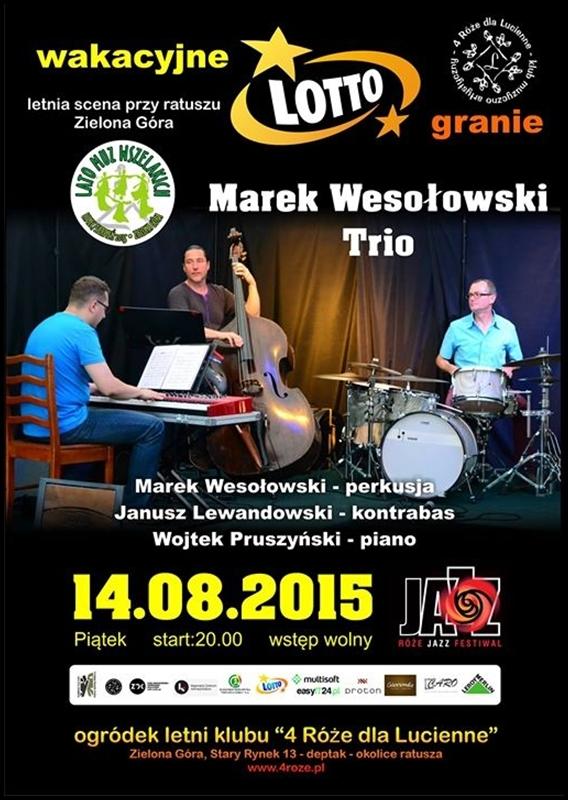 2015_08_14_Roze_Jazz_Festiwal_ Marek_Wesolowski_Trio_plakat