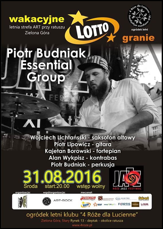 2016_08_31_Roze_Jazz_Festiwal_ Piotr_Budniak_Essential_Group_plakat